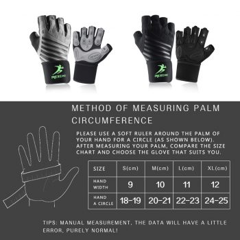 Gym Fitness Half Finger Gloves with Wrist Wrap Support Men Women Crossfit Workout Gloves Power Weight Lifting Equipment 11