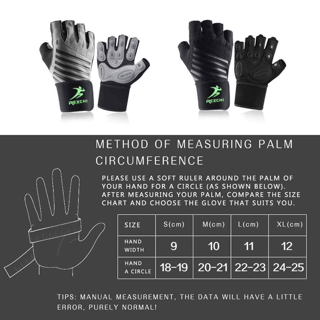 Gym Fitness Half Finger Gloves with Wrist Wrap Support Men Women Crossfit Workout Gloves Power Weight Lifting Equipment 6