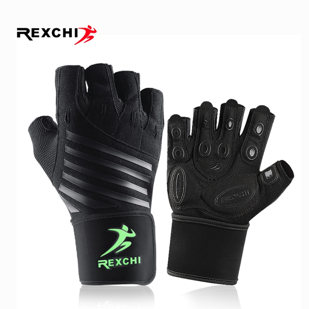 Gym Fitness Half Finger Gloves with Wrist Wrap Support Men Women Crossfit Workout Gloves Power Weight Lifting Equipment 1