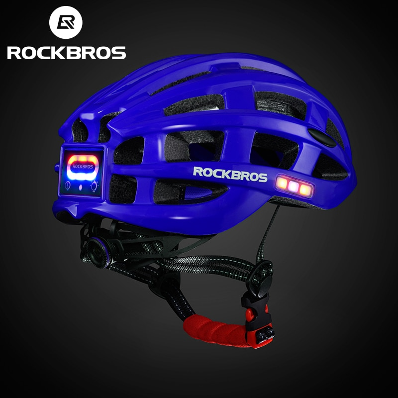 ROCKBROS Cycling Helmet with integrated front and side safety lights 6