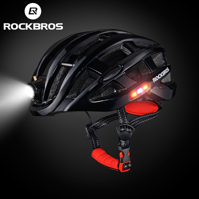 ROCKBROS Cycling Helmet with integrated front and side safety lights 1
