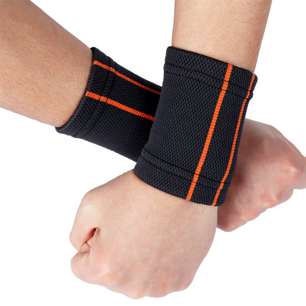 1 pc Breathable Knitted Wristbands Sport Sweatband Cotton Yarn Wrist Support Brace Wraps Guards For Gym Volleyball Basketball 1