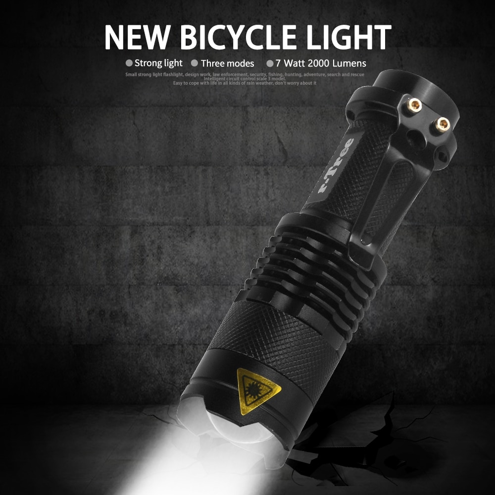 Waterproof Bicycle Front LED Light with ZOOM and flashlight 1