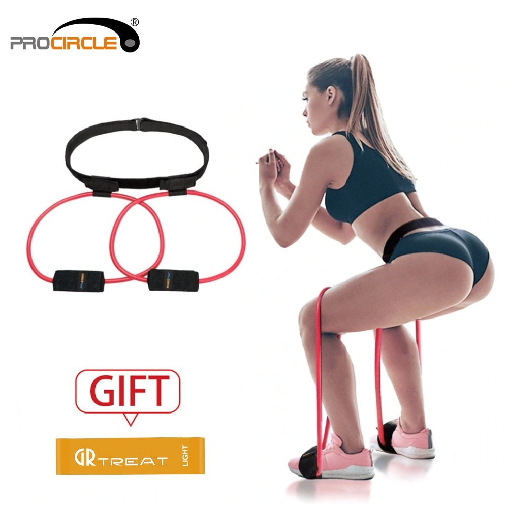 Fitness Women Booty Butt Band Resistance Bands Adjustable Waist Belt Pedal Exerciser for Glutes Muscle Workout Free Bag 1