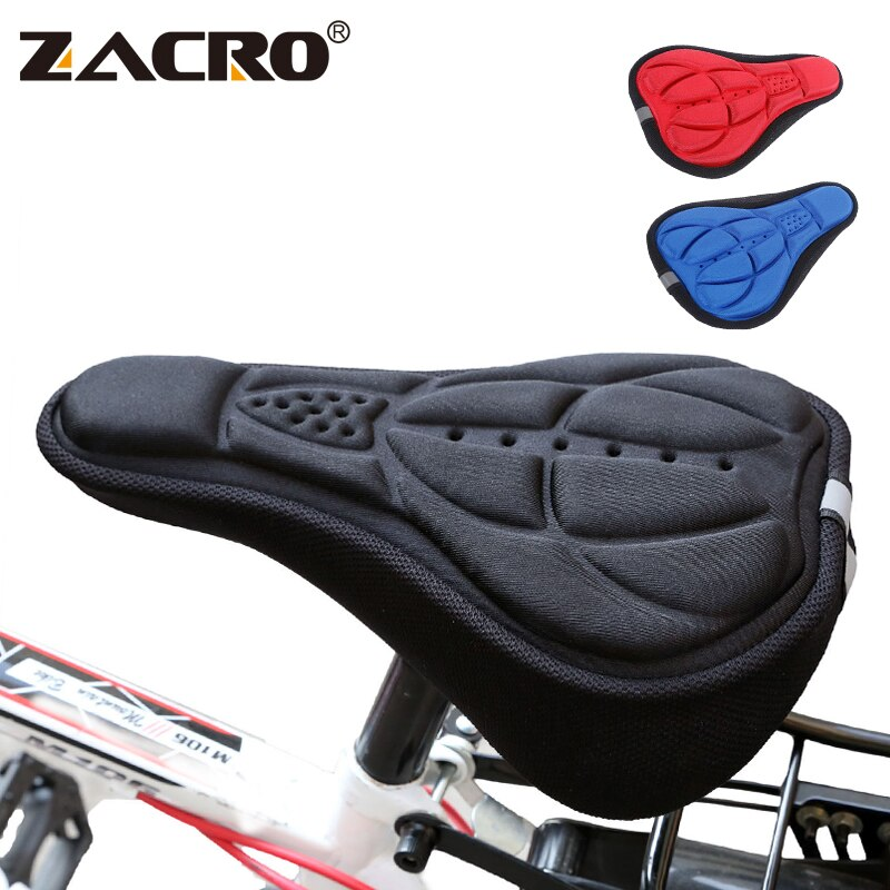 Zacro Bicycle Saddle 3D Soft Bike Seat Cover Comfortable Foam Seat Cushion Cycling Saddle for Bicycle Bike Accessories 1