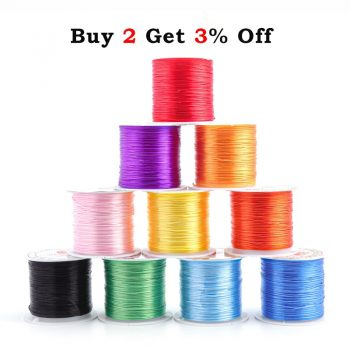 393inch/Roll Strong Elastic Crystal Beading Cord 1mm for Bracelets Stretch Thread String Necklace DIY Jewelry Making Cords Line 1