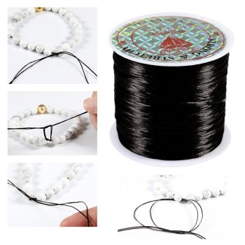 393inch/Roll Strong Elastic Crystal Beading Cord 1mm for Bracelets Stretch Thread String Necklace DIY Jewelry Making Cords Line 2