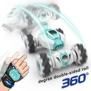 2.4G Remote Control RC Car Roll Rotary Double-Side Stunt Gesture Induction Twisting Drift Off-Road Cars Dancing Driving Car
